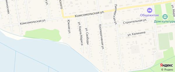 Улица Свободы на карте Кулоя поселка с номерами домов