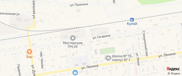 Улица Гагарина на карте Кулоя поселка с номерами домов