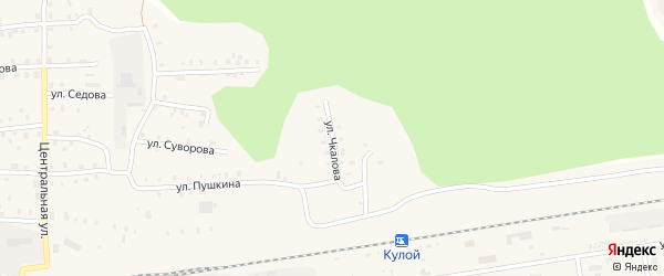 Улица Чкалова на карте Кулоя поселка с номерами домов