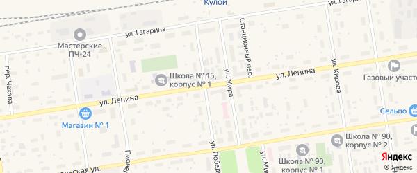 Улица Ленина на карте Кулоя поселка с номерами домов