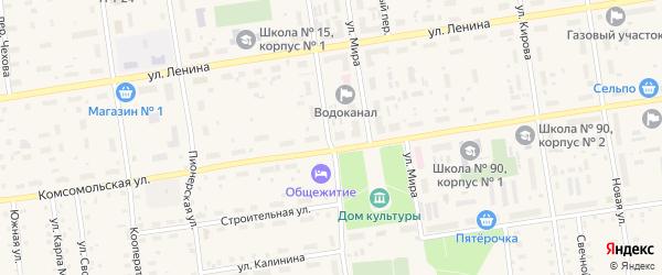 Улица Победы на карте Кулоя поселка с номерами домов