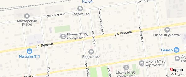 Лесной переулок на карте Кулоя поселка с номерами домов