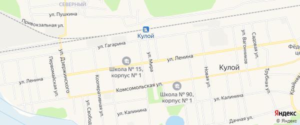 Карта Кулоя поселка в Архангельской области с улицами и номерами домов