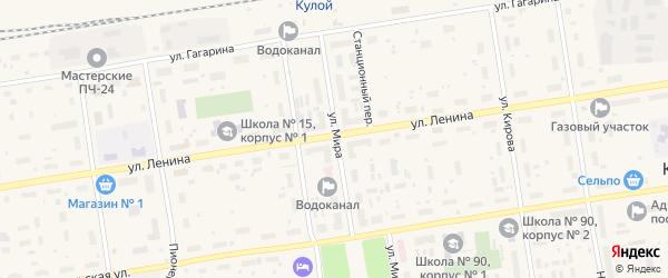 Строительная улица на карте Кулоя поселка с номерами домов