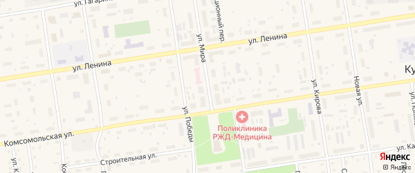 Улица Мира на карте Кулоя поселка с номерами домов