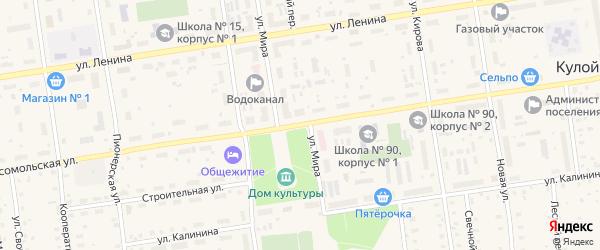 Комсомольская улица на карте Кулоя поселка с номерами домов
