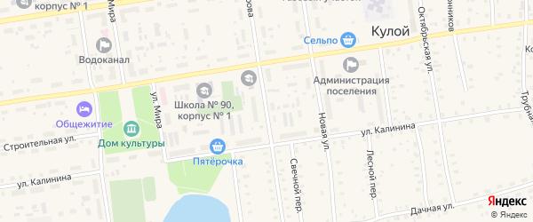 Улица Кирова на карте Кулоя поселка с номерами домов