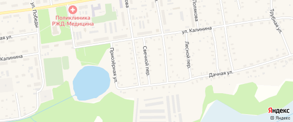Свечной переулок на карте Кулоя поселка с номерами домов