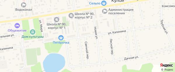 Улица Калинина на карте Кулоя поселка с номерами домов