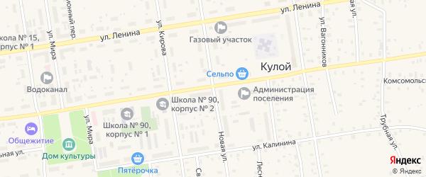 Новая улица на карте Кулоя поселка с номерами домов