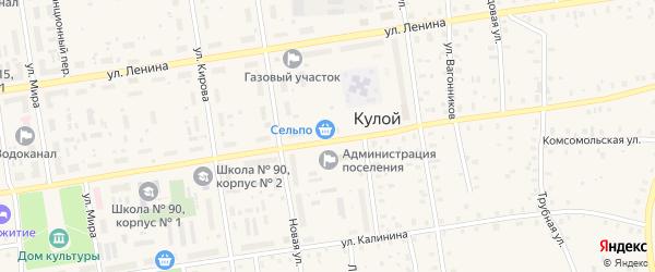 Приозерная улица на карте Кулоя поселка с номерами домов