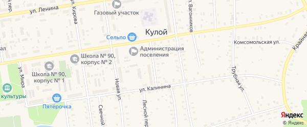 Улица Полякова на карте Кулоя поселка с номерами домов