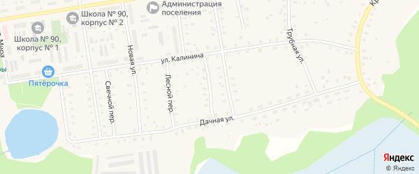 Железнодорожный переулок на карте Кулоя поселка с номерами домов