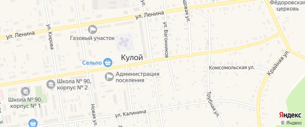 Октябрьская улица на карте Кулоя поселка с номерами домов