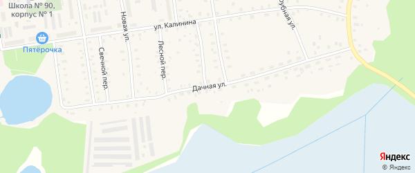 Дачная улица на карте Кулоя поселка с номерами домов