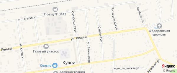 Улица Вагонников на карте Кулоя поселка с номерами домов