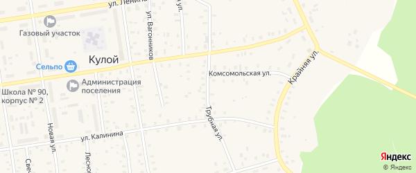 Трубная улица на карте Кулоя поселка с номерами домов