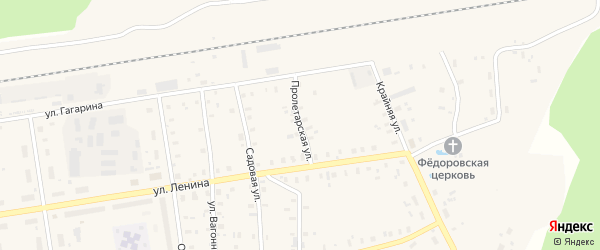 Пролетарская улица на карте Кулоя поселка с номерами домов