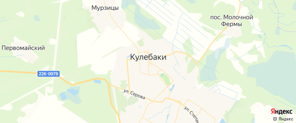 Карта Кулебак с районами, улицами и номерами домов