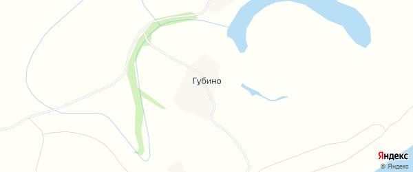 Карта деревни Губино в Архангельской области с улицами и номерами домов