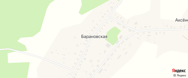 Территория Производств база ООО Леминвестпродукт на карте Барановской деревни с номерами домов