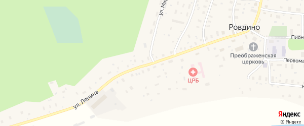 Улица Ленина на карте села Ровдино с номерами домов