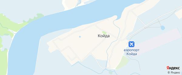 Карта села Койды в Архангельской области с улицами и номерами домов