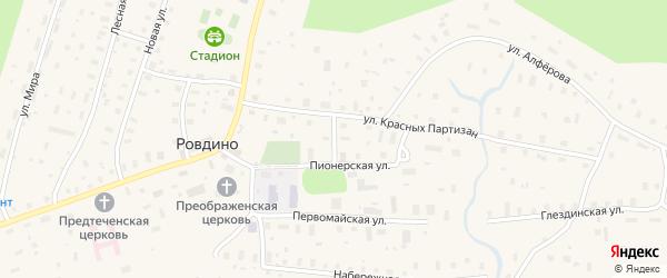 Улица 3 Пятилетки на карте села Ровдино с номерами домов