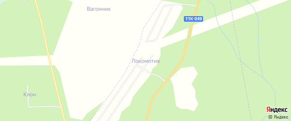 Карта садового некоммерческого товарищества СОТА Локомотива в Архангельской области с улицами и номерами домов