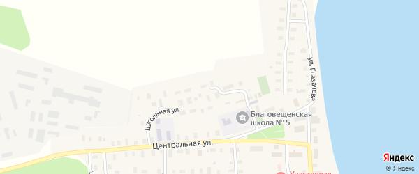 Школьная улица на карте Благовещенского села с номерами домов