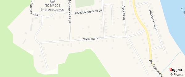 Угольная улица на карте Благовещенского села с номерами домов