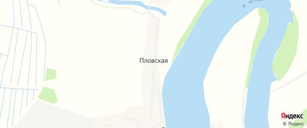 Карта Пловской деревни в Архангельской области с улицами и номерами домов