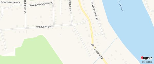 Лесная улица на карте Благовещенского села с номерами домов