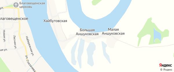 Карта Большей Аншуковской деревни в Архангельской области с улицами и номерами домов