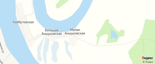 Карта Малой Аншуковской деревни в Архангельской области с улицами и номерами домов