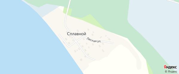 Комсомольская улица на карте Сплавного поселка с номерами домов
