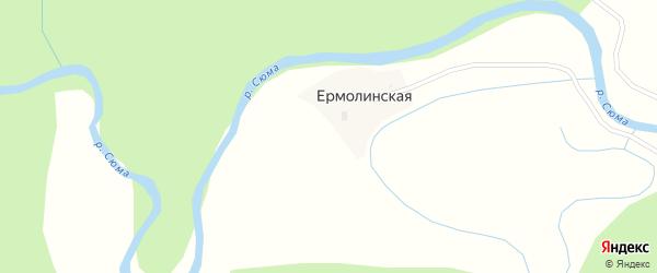 Ермолинская улица на карте Ермолинской деревни с номерами домов