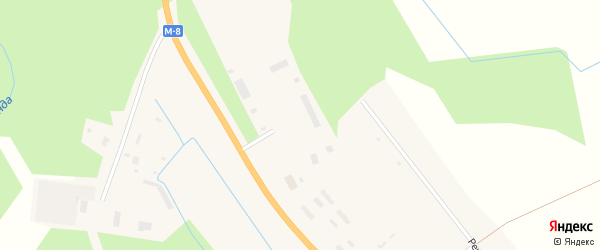 Квартал ТЭСУ на карте деревни Нижнее Чажестрово с номерами домов