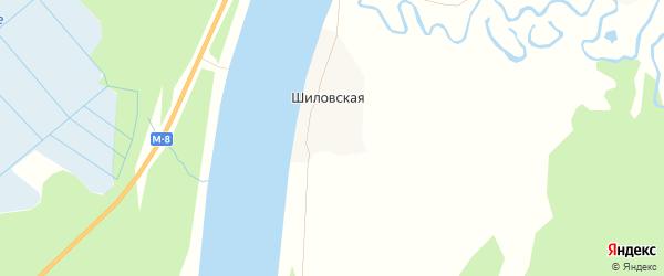 Карта Шиловской деревни в Архангельской области с улицами и номерами домов