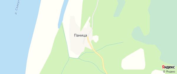 Карта деревни Паницы в Архангельской области с улицами и номерами домов