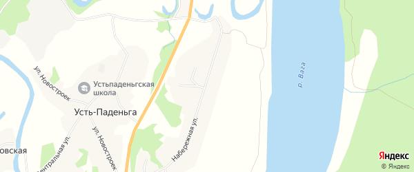 Территория Около д.Усть-Паденьга на карте деревни Усть-паденьги с номерами домов
