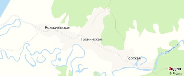 Карта Рохмачевской деревни в Архангельской области с улицами и номерами домов