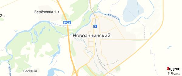 Карта Новоаннинского с районами, улицами и номерами домов