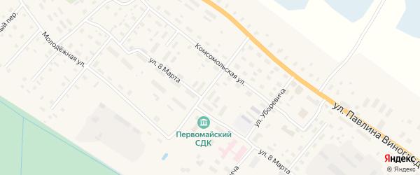 Нагорная улица на карте поселка Березника с номерами домов