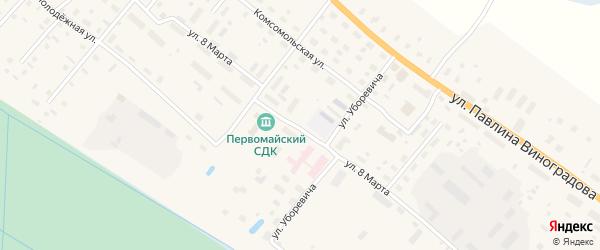Улица 8 Марта на карте поселка Березника с номерами домов