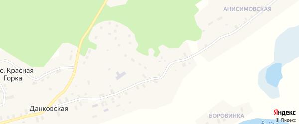 Садовая улица на карте поселка Красной Горки с номерами домов