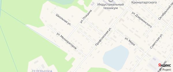 Школьная улица на карте поселка Березника с номерами домов