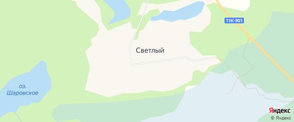 Карта Светлого поселка в Архангельской области с улицами и номерами домов
