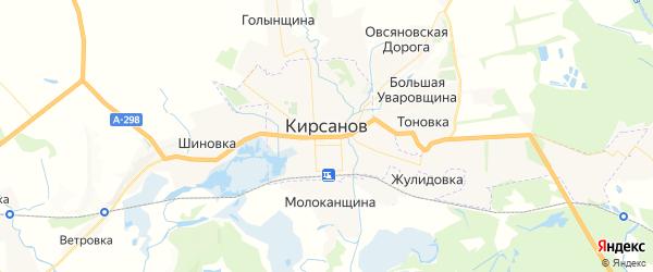 Карта Кирсанова с районами, улицами и номерами домов