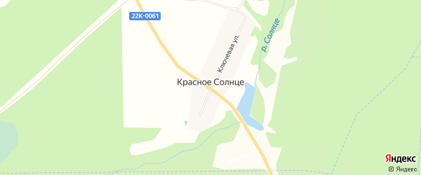 Карта поселка Красного Солнца города Выксы в Нижегородской области с улицами и номерами домов